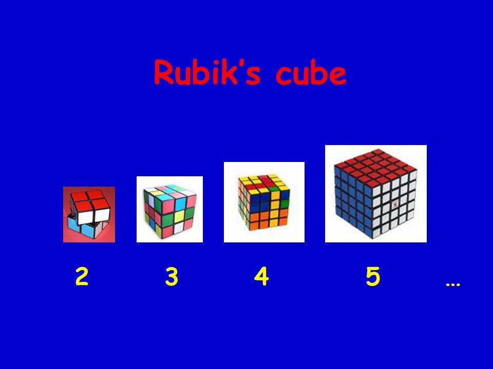 Rubik's cube 2 3 4 5 …