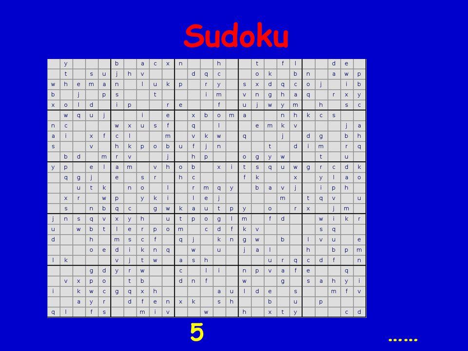 Sudoku 5 ……