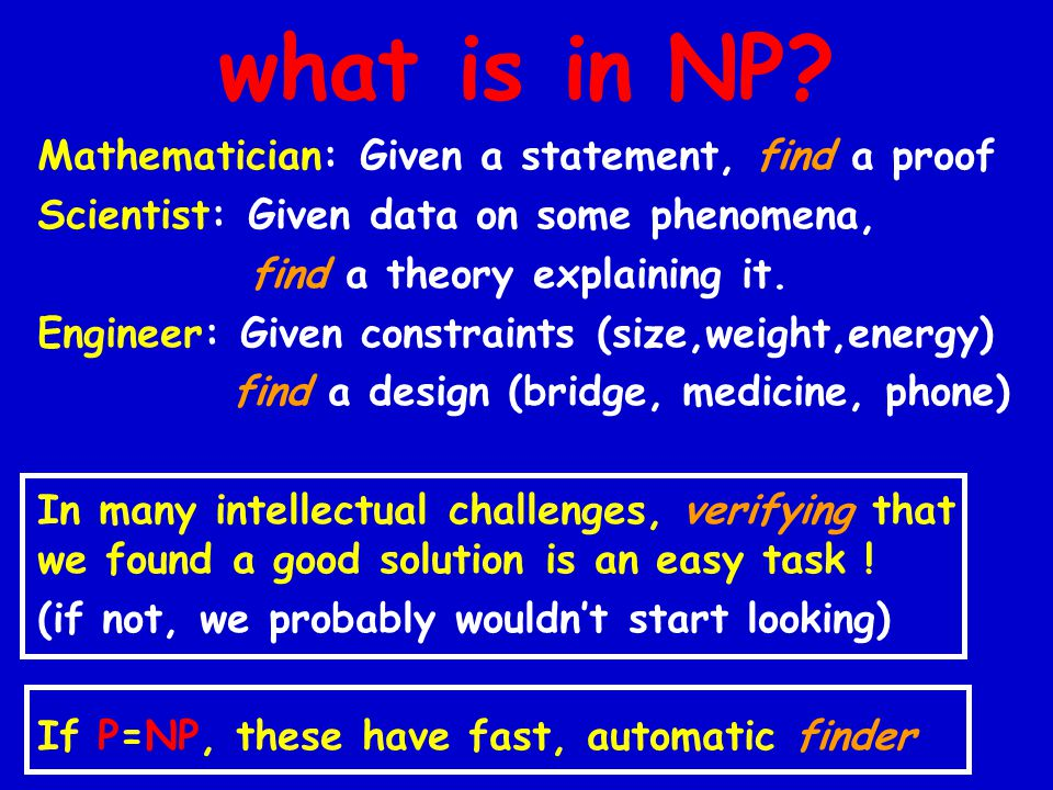 what is in NP.