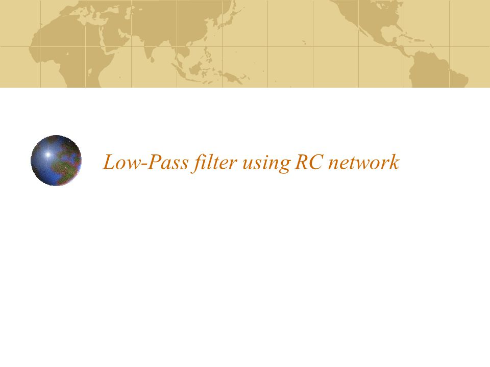 Low-Pass filter using RC network