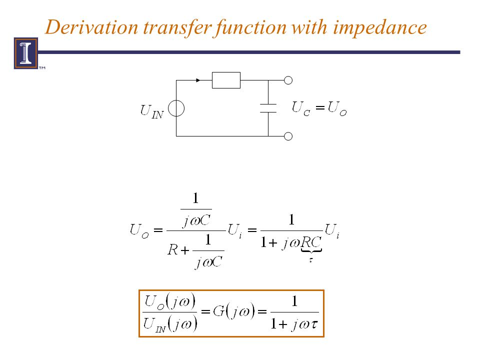 Derivation transfer function with impedance