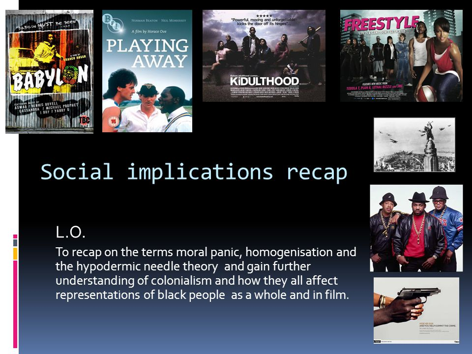 Social implications recap L.O.