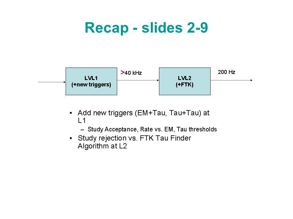 Recap - slides 2-9