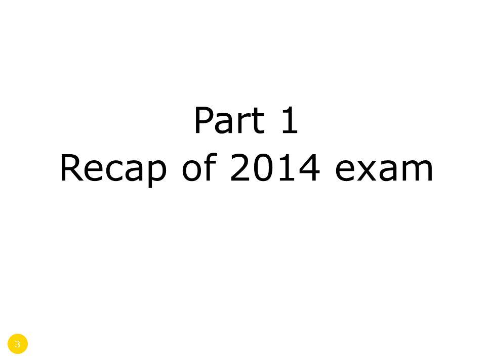 Part 1 Recap of 2014 exam 3