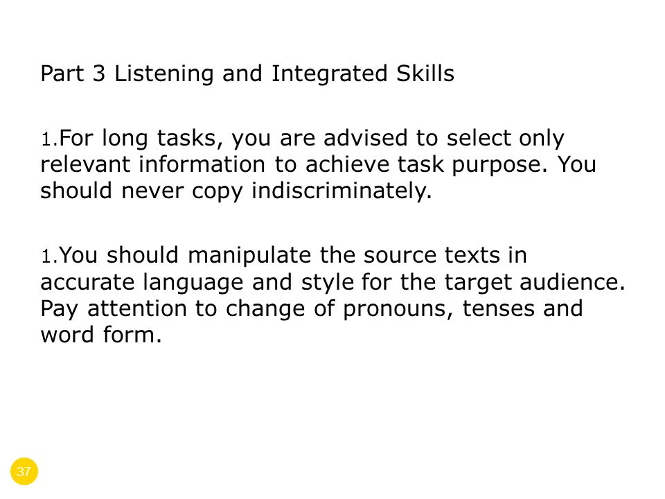 37 Part 3 Listening and Integrated Skills 1.
