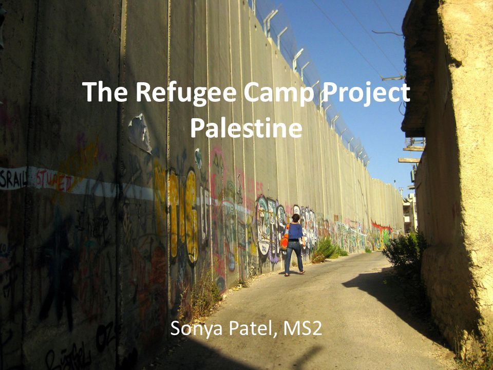 The Refugee Camp Project Palestine Sonya Patel, MS2
