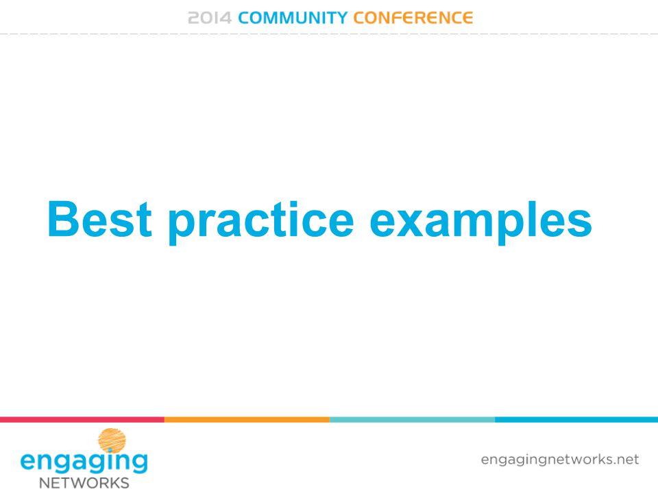 Best practice examples