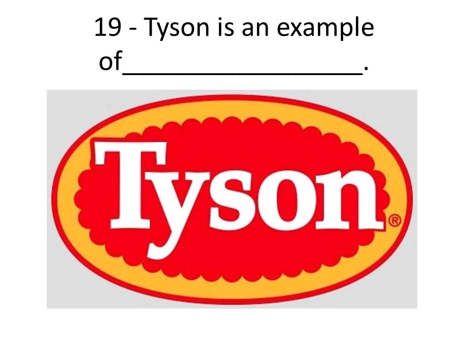 19 - Tyson is an example of_________________.