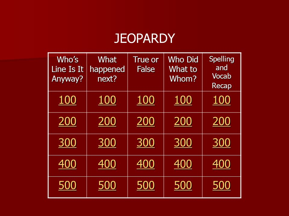 JEOPARDY Who's Line Is It Anyway. What happened next.