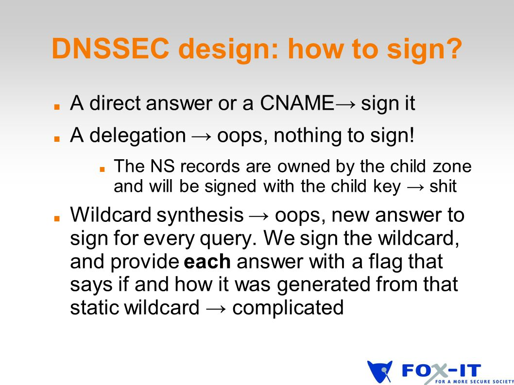 DNSSEC design: how to sign.