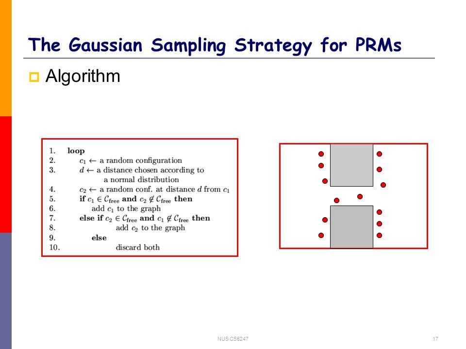 NUS CS524717 The Gaussian Sampling Strategy for PRMs  Algorithm