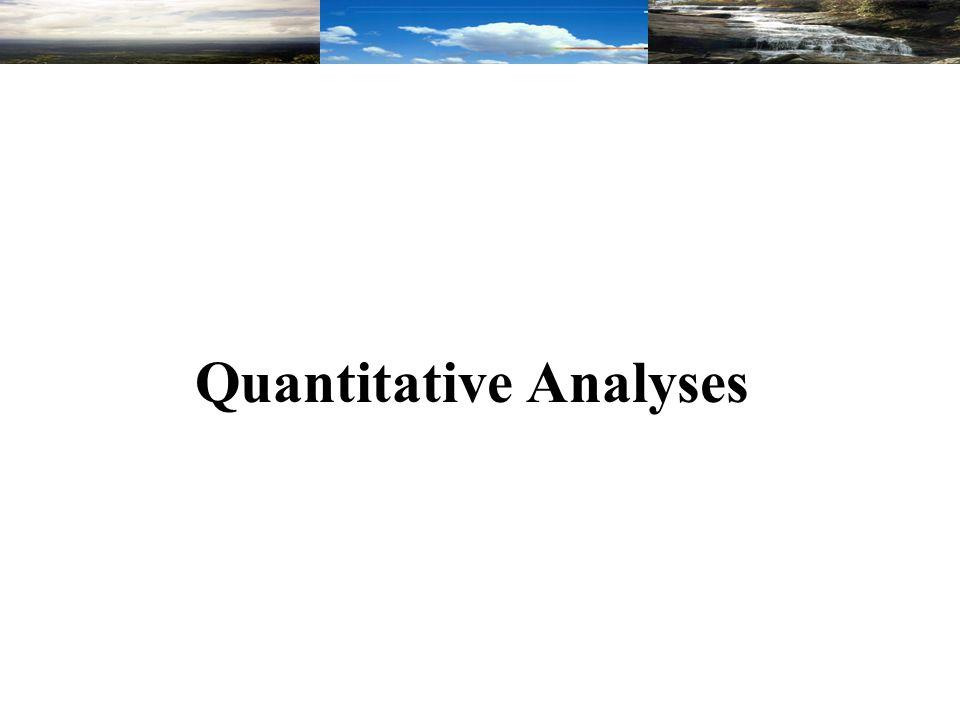 Quantitative Analyses
