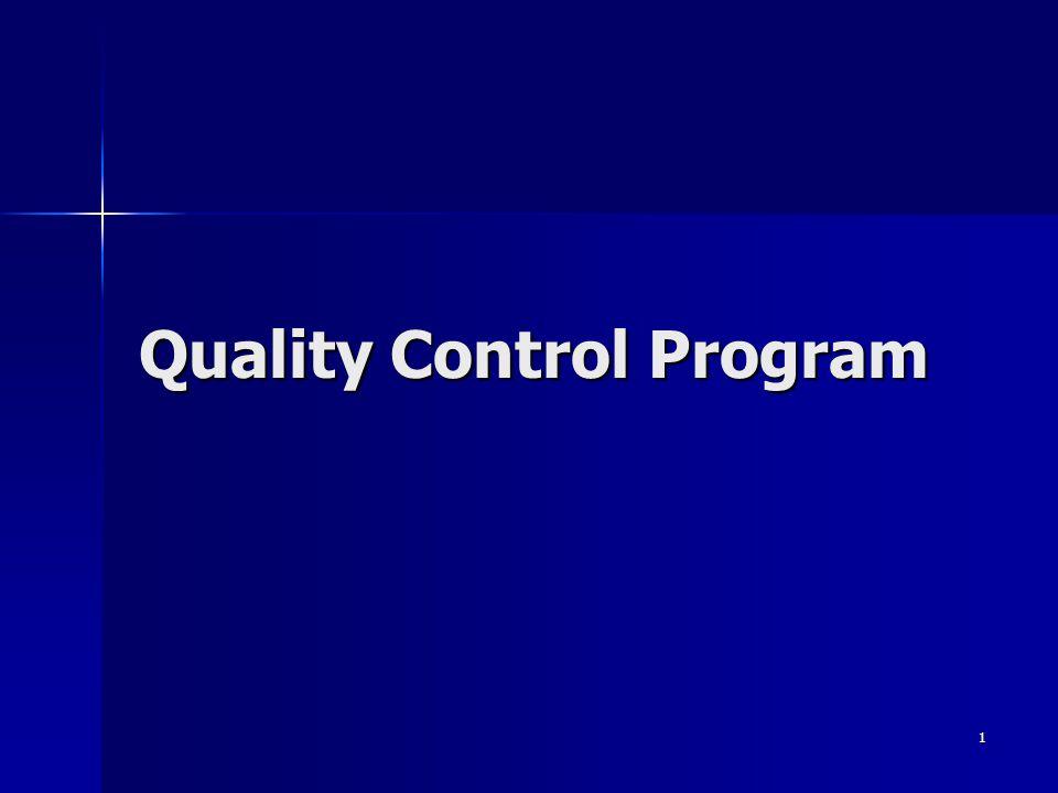 1 Quality Control Program