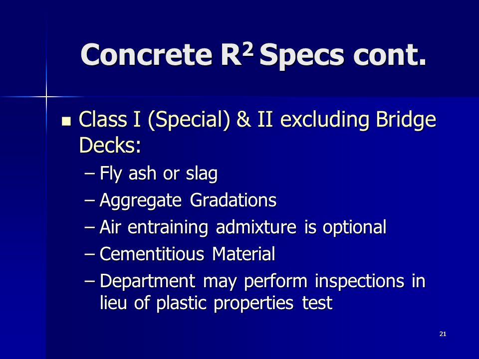 21 Concrete R 2 Specs cont.