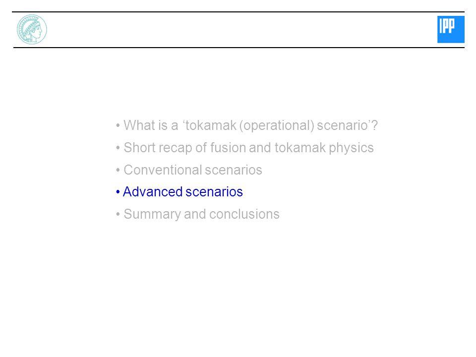 What is a 'tokamak (operational) scenario'.