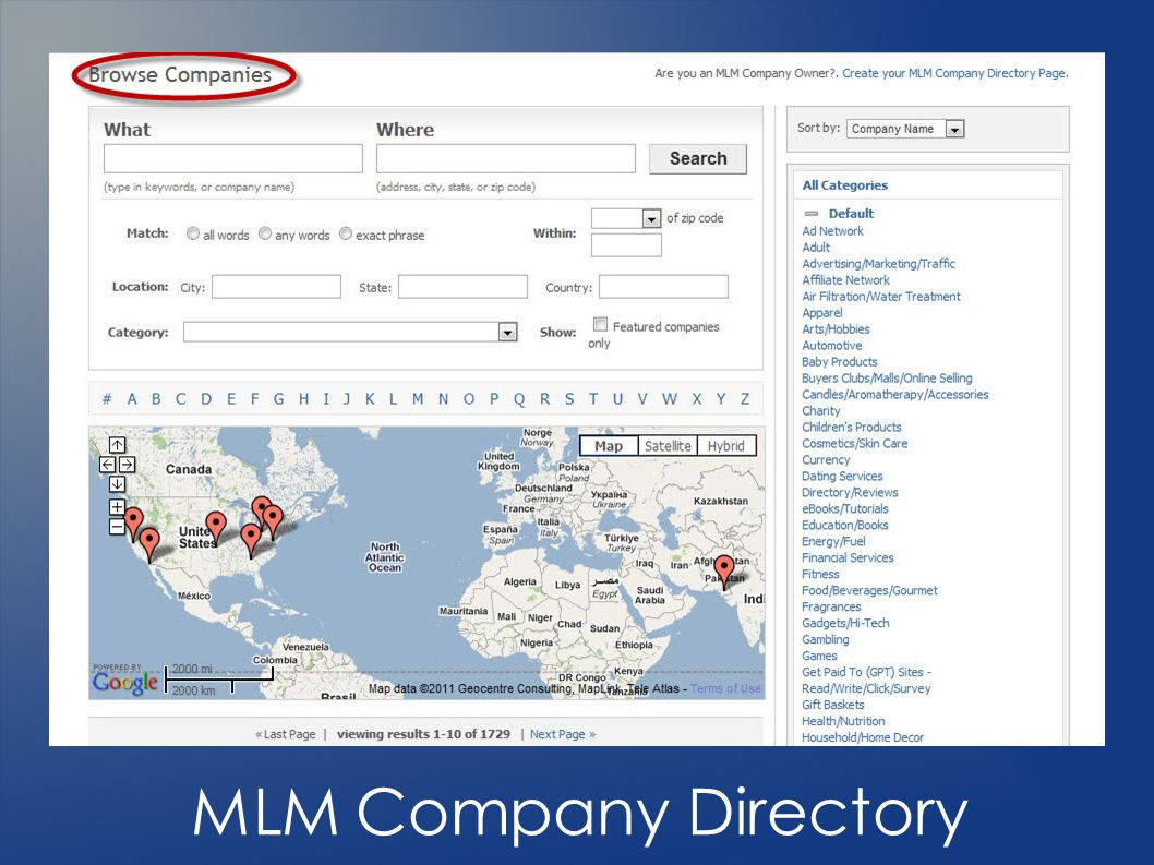 MLM Company Directory