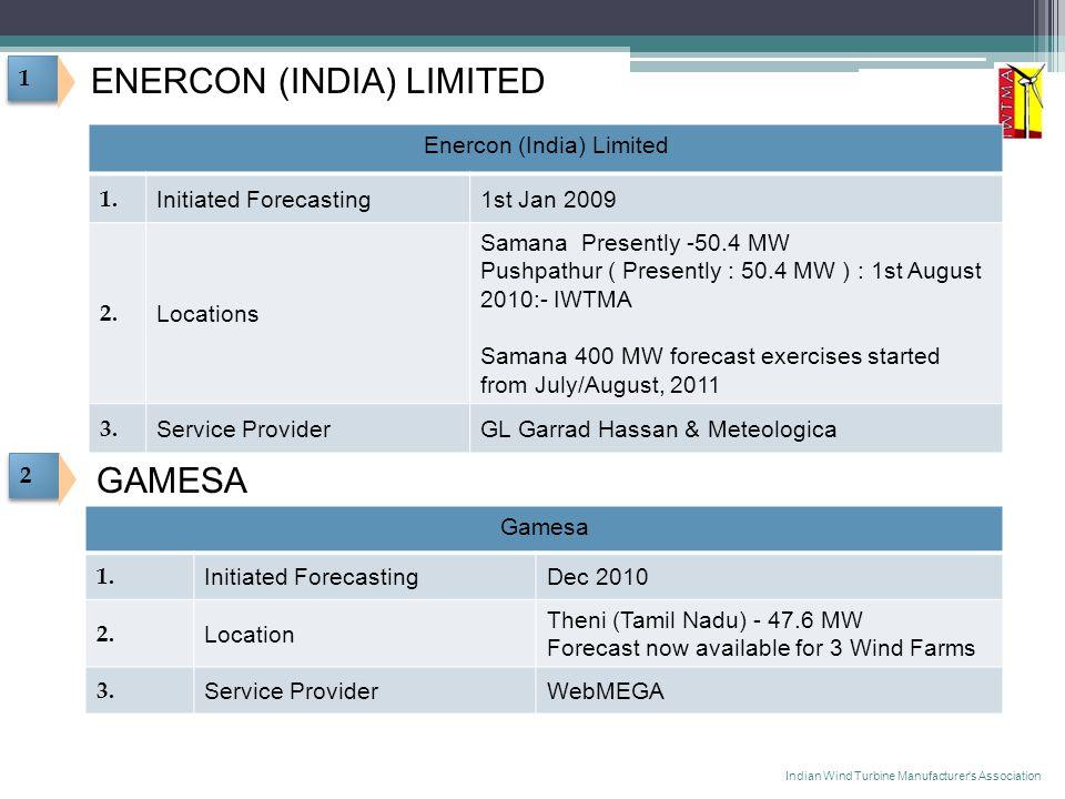 1 1 ENERCON (INDIA) LIMITED Enercon (India) Limited 1.