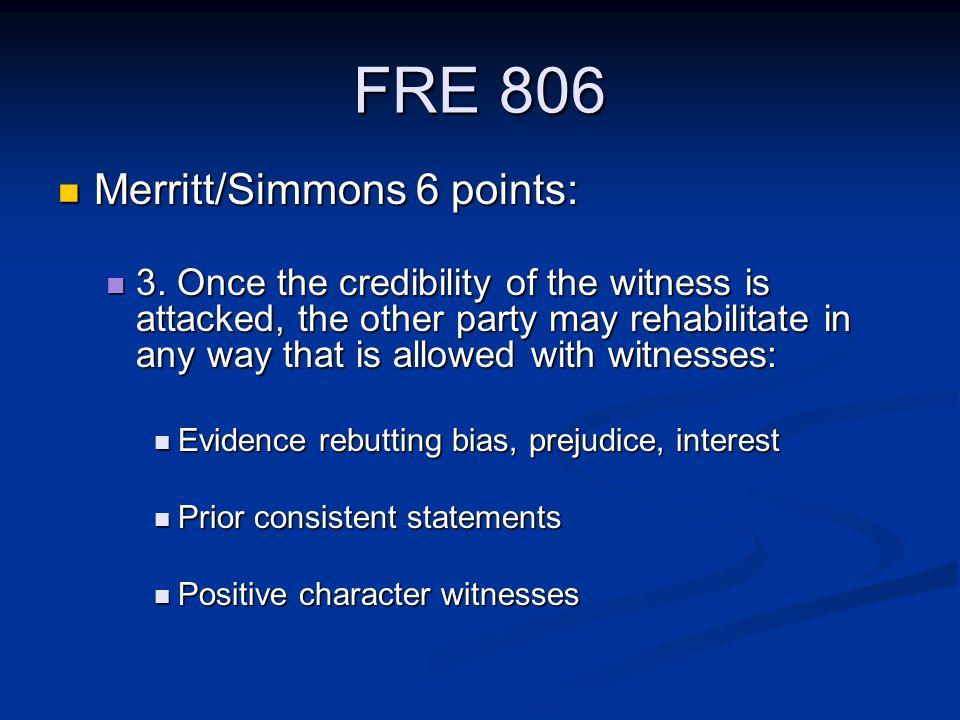 FRE 806 Merritt/Simmons 6 points: Merritt/Simmons 6 points: 3.
