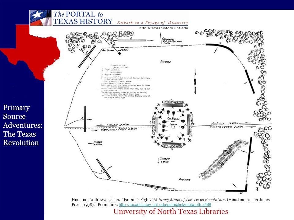 University of North Texas Libraries Primary Source Adventures: The Texas Revolution