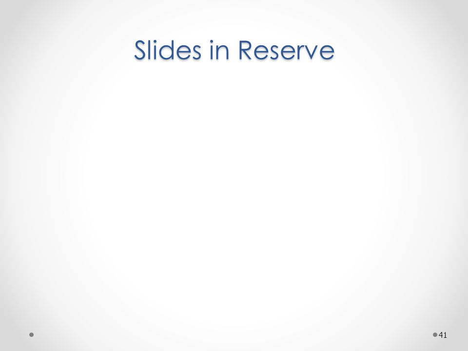 Slides in Reserve 41