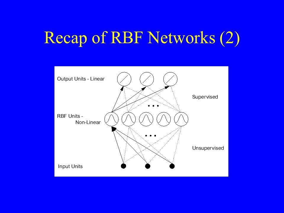 Recap of RBF Networks (2)