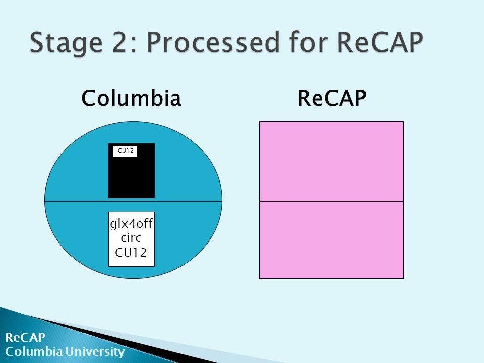 ReCAP Columbia University ColumbiaReCAP glx4off circ CU12