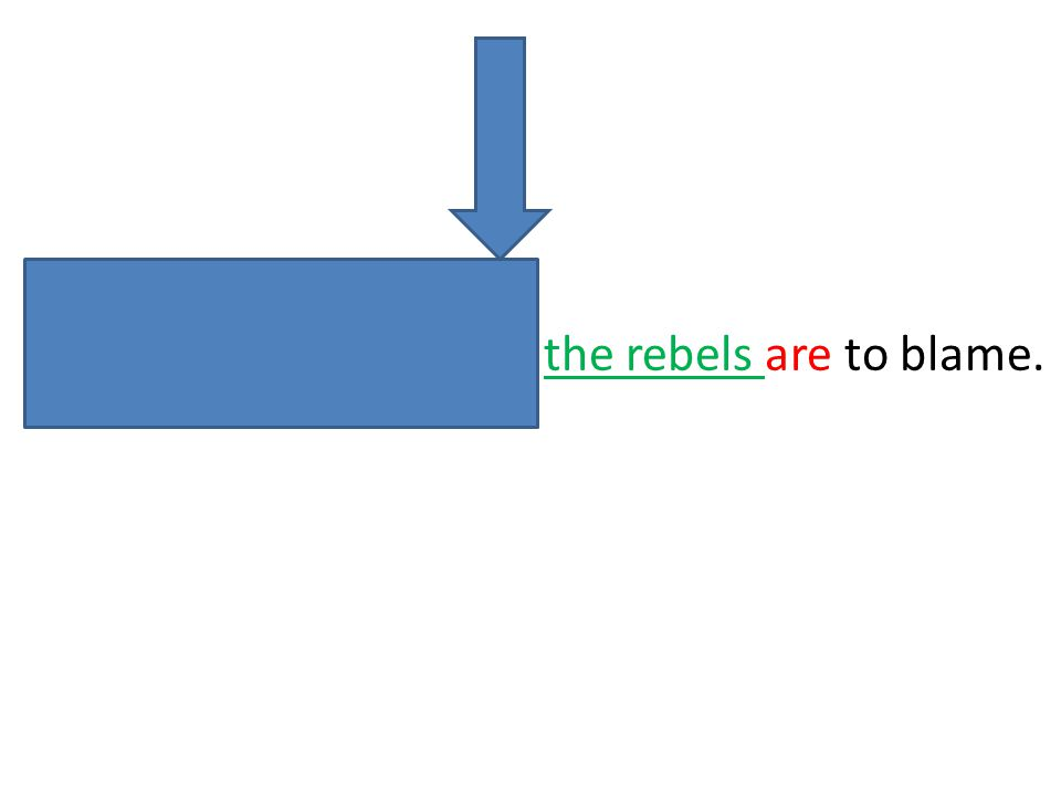 Either the army or the rebels are to blame.