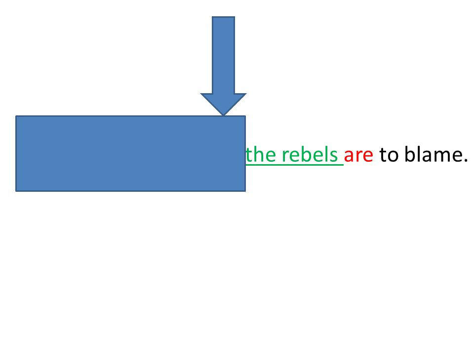 Neither the army nor the rebels are to blame.