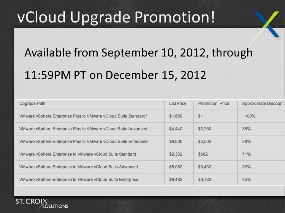 vCloud Upgrade Promotion.