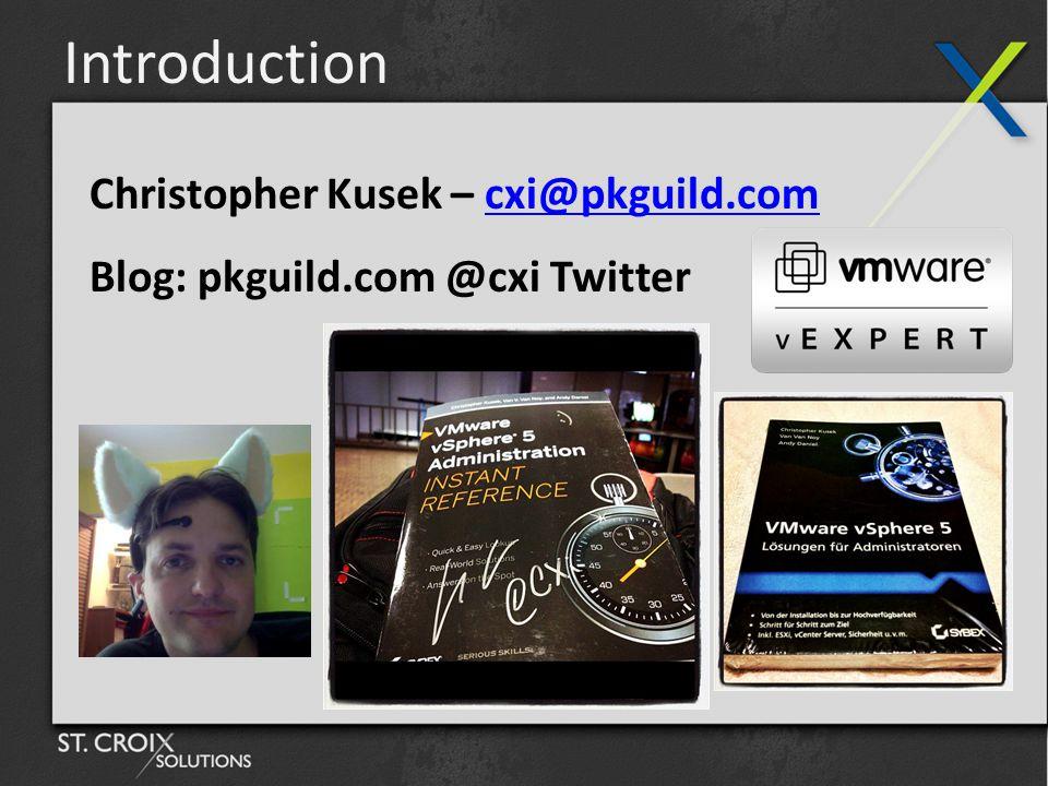 Introduction Christopher Kusek – cxi@pkguild.comcxi@pkguild.com Blog: pkguild.com @cxi Twitter