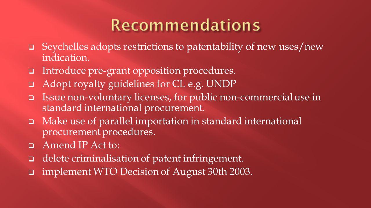  Mechanism for compulsory license. Registration of medicines.