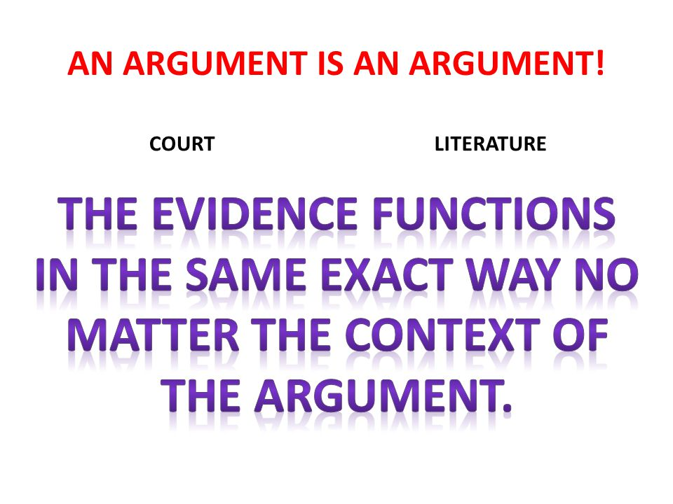 AN ARGUMENT IS AN ARGUMENT! COURT DNA Fingerprints Photograph LITERATURE Quotation