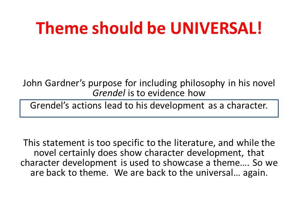 Make it UNIVERSAL.