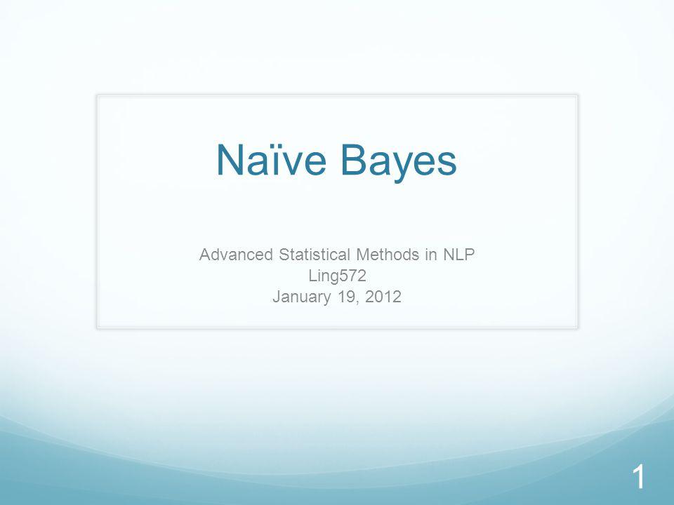Roadmap Naïve Bayes Multi-variate Bernoulli event model (recap) Multinomial event model Analysis HW#3 2