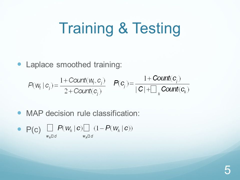Multinomial Event Model Document is sequence of word events drawn from vocabulary V.