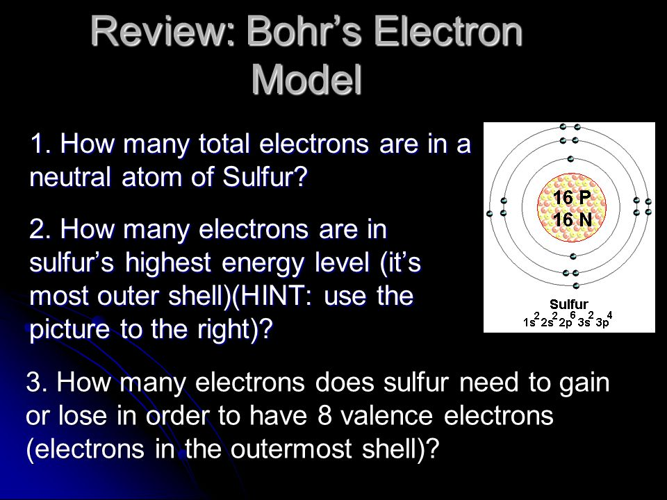 Bohr developed an atomic model in which the electrons are arranged in specific energy levels.