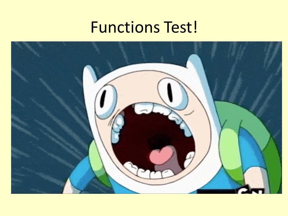Functions Test!