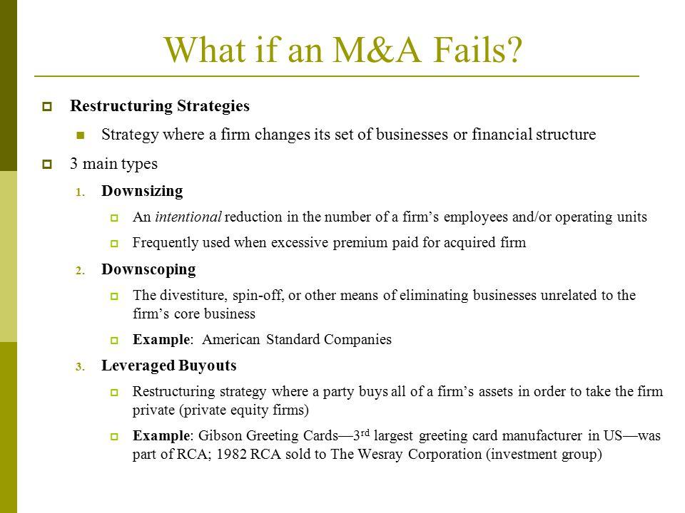 What if an M&A Fails.