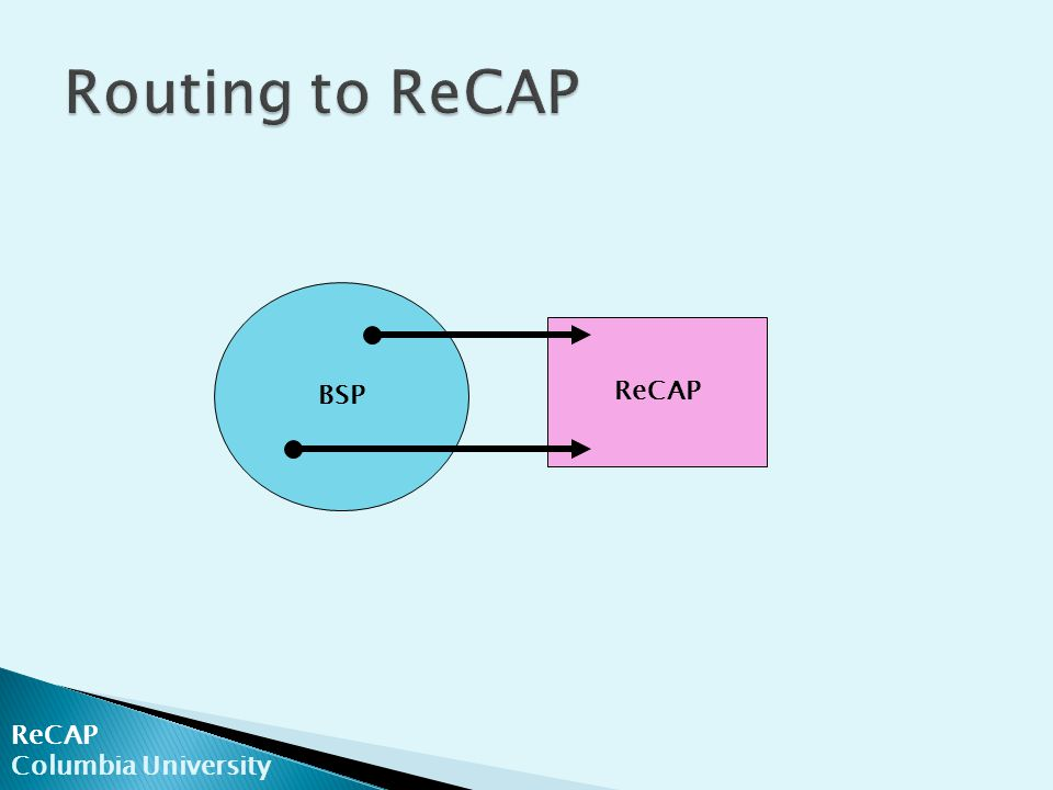ReCAP Columbia University BSP ReCAP