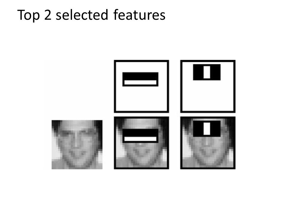 Top 2 selected features