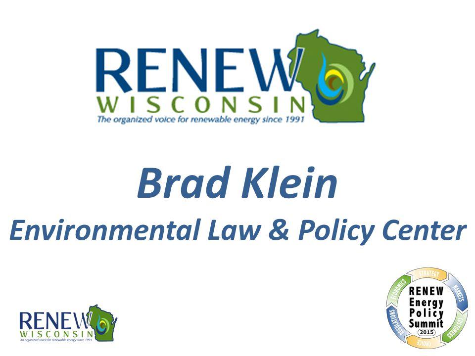 Brad Klein Environmental Law & Policy Center