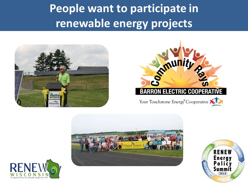 People want to participate in renewable energy projects