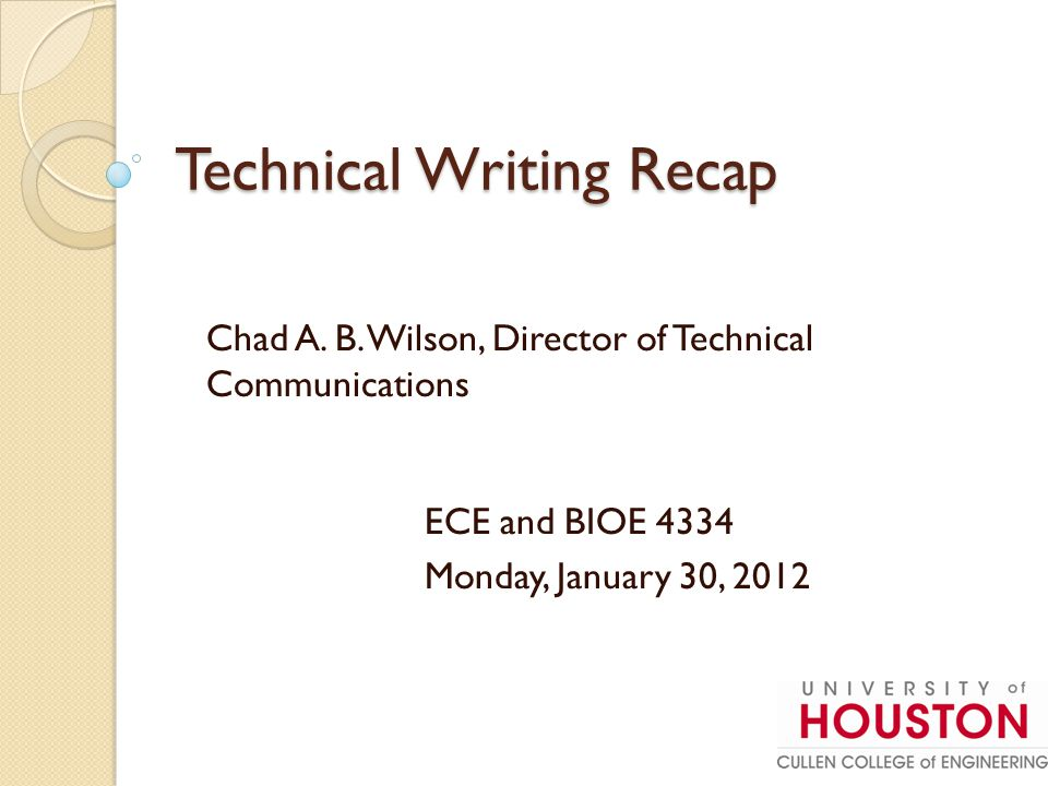 Writing Team Reports: 3 Methods Writing Team Reports: 3 Methods Introduction Statement of Work Accomplishments Chad Sarah Travis Break it up into sections and each member writes a section.
