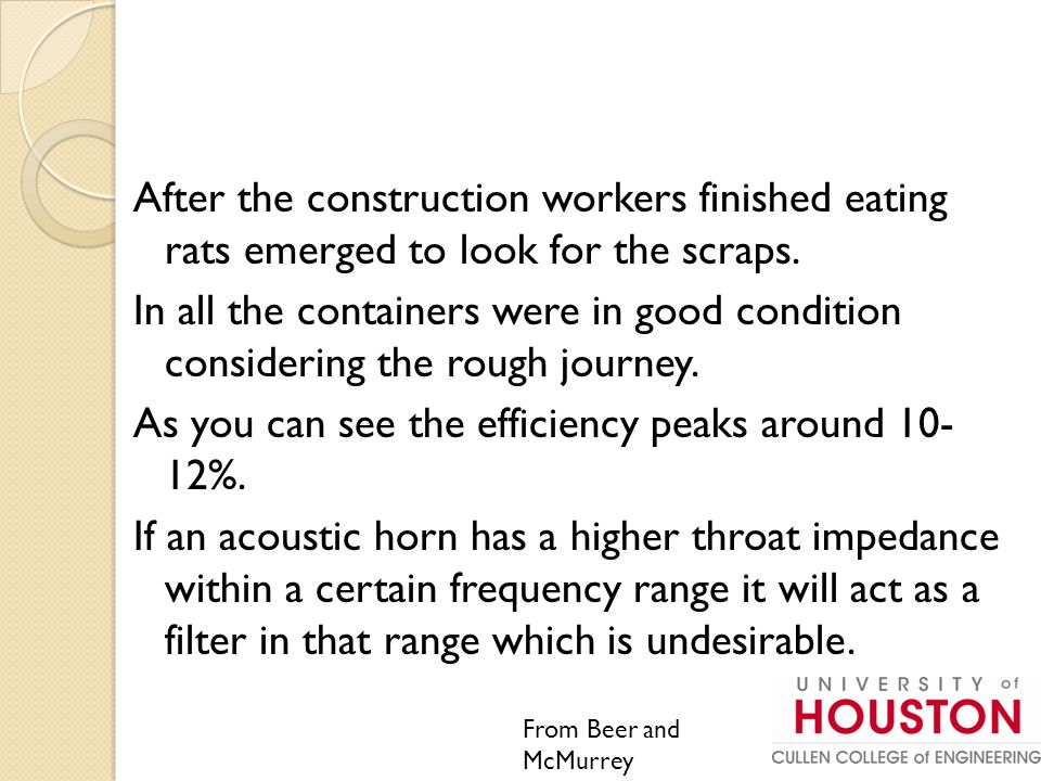 After the construction workers finished eating rats emerged to look for the scraps.