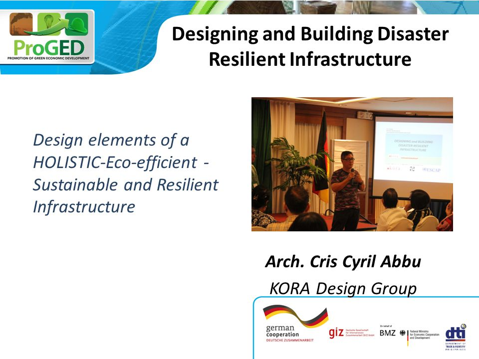 Designing and Building Disaster Resilient Infrastructure Arch.