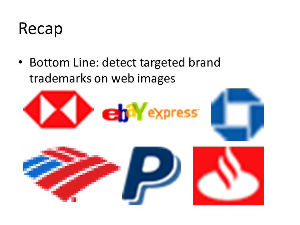 Recap Bottom Line: detect targeted brand trademarks on web images