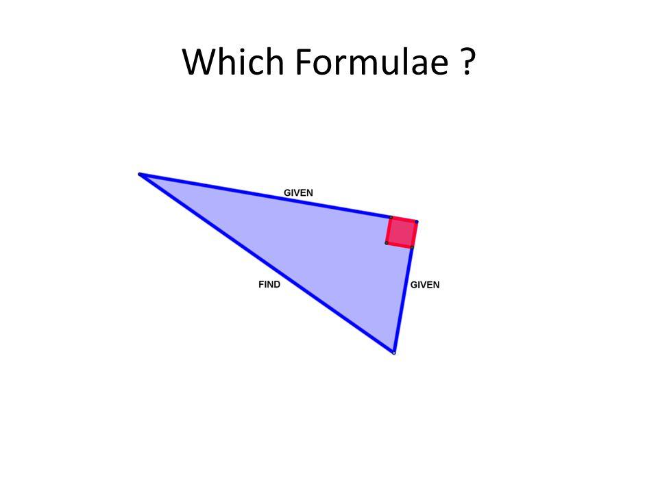 Which Formulae ?