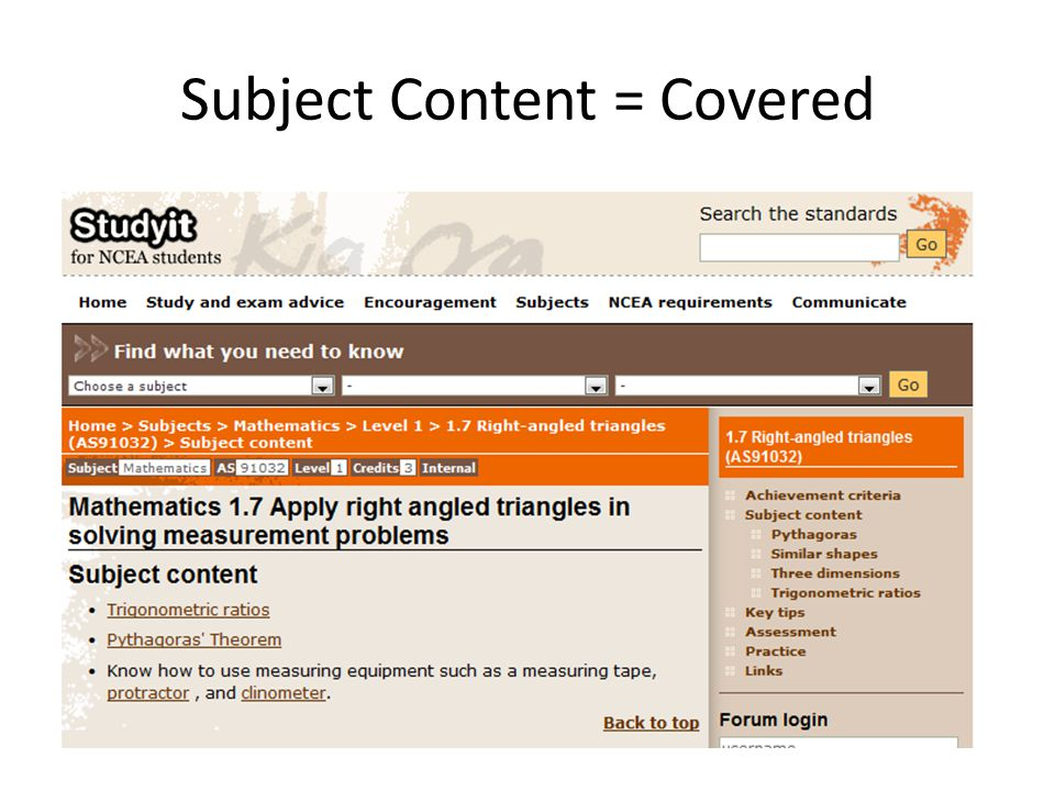 Subject Content = Covered