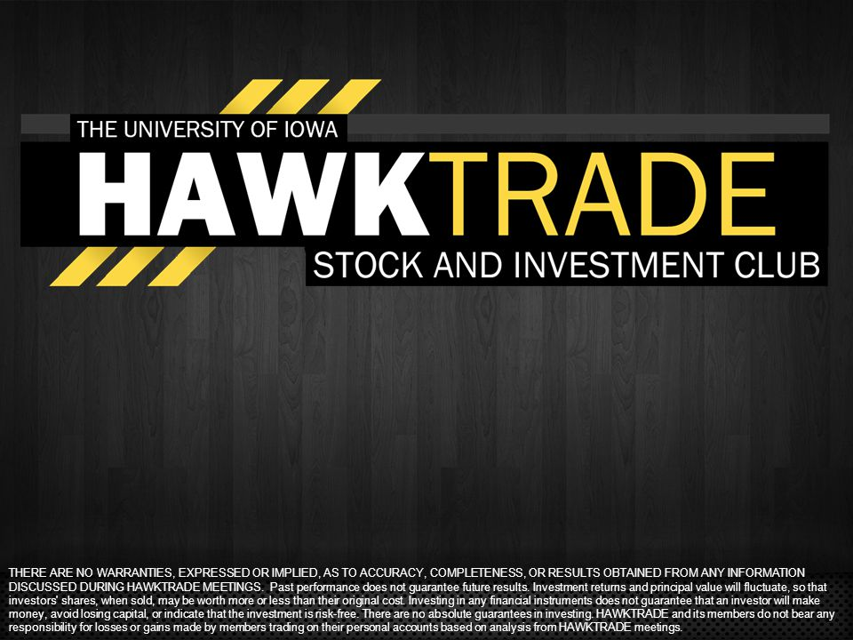 THERE ARE NO WARRANTIES, EXPRESSED OR IMPLIED, AS TO ACCURACY, COMPLETENESS, OR RESULTS OBTAINED FROM ANY INFORMATION DISCUSSED DURING HAWKTRADE MEETI
