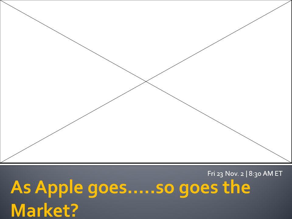 As Apple goes…..so goes the Market? Fri 23 Nov. 2 | 8:30 AM ET